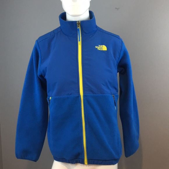 04a7baac4 Boys XL Blue North Face jacket with yellow zipper NWT